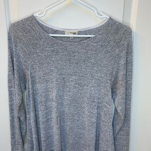 Wilfred free heather grey long sleeve blouse top